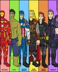 Marvel Heroes - Avengers Team No.1 by NowitzkiTramonto