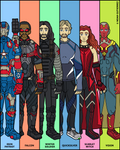 Marvel Heroes - Avengers Team No.2 by NowitzkiTramonto