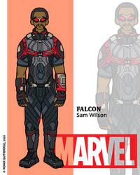 Marvel Heroes - Falcon by NowitzkiTramonto