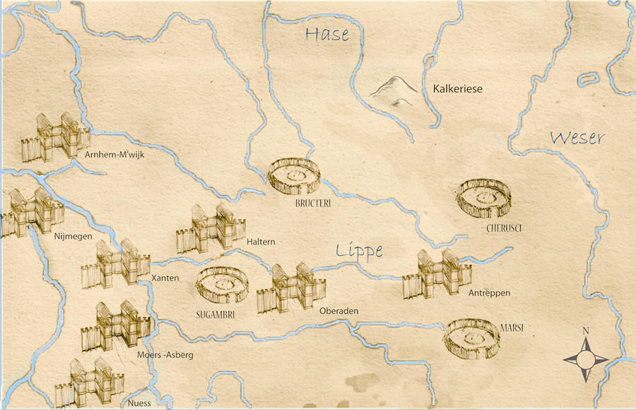Roman camps german tribes a map by wilkonrad on deviantart roman camps german tribes a map by wilkonrad sciox Images