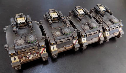 Black Templar Razorbacks by Carcharadon