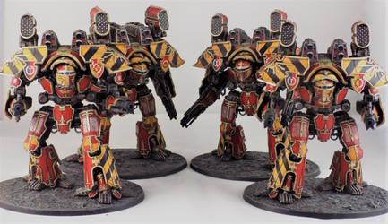 Legio Ignatum 'Fire Wasp' Warlord Titans by Carcharadon