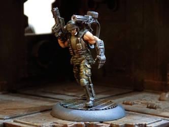 Bionic 'Dutch' Shaefer by Carcharadon