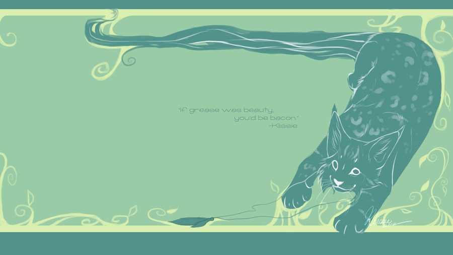 Plants and Lynx wallpaper by Klissie