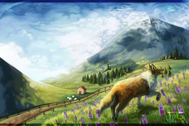 Sheepdoging by Klissie