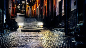 Car with lighting effect