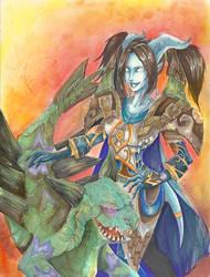 dranei and warpstalker by sandyhong