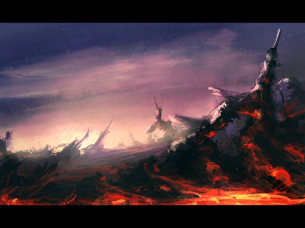 Hellish Terrain by DerMonkey