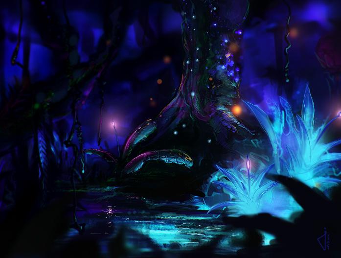 Avatar en imagenes Pandora_night_by_DerMonkey