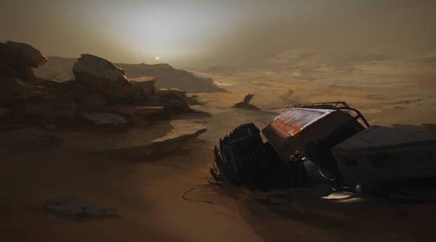 Nacht auf dem Mars