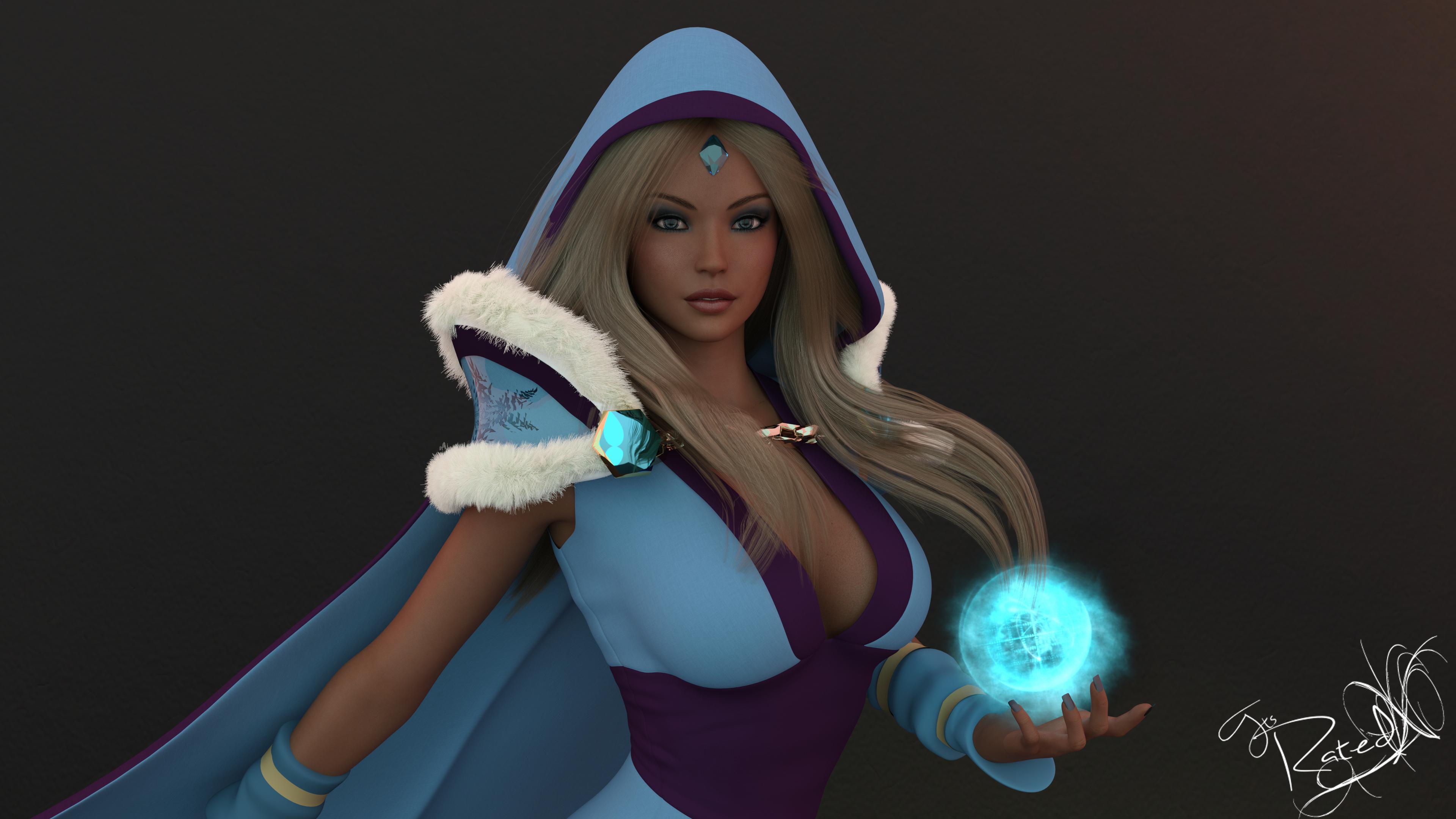 dota 2 crystal maiden fan art by itsratedx on deviantart