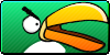 Angry Birds Green button by vyndo