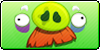 AngryBirds Mustache pig button by vyndo