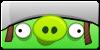 Angry Birds helmed pig button by vyndo