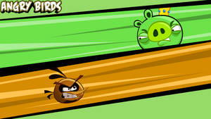 Angry Birds wallpaper orange