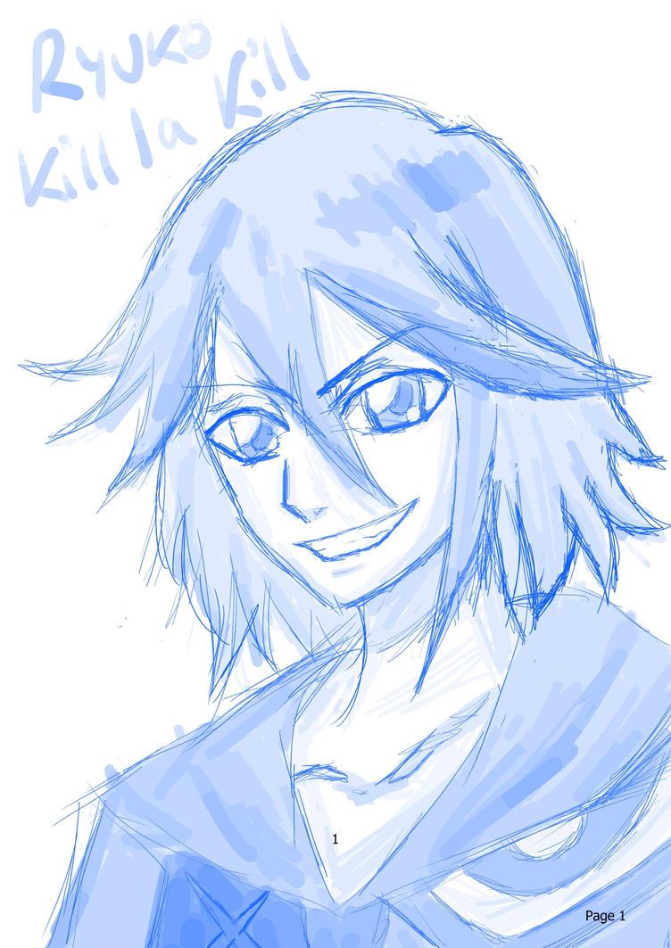 Ryuko Matoi sketch by hinataconsuegra