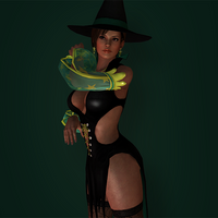 Lisa Hamilton Halloween DLC by Sticklove
