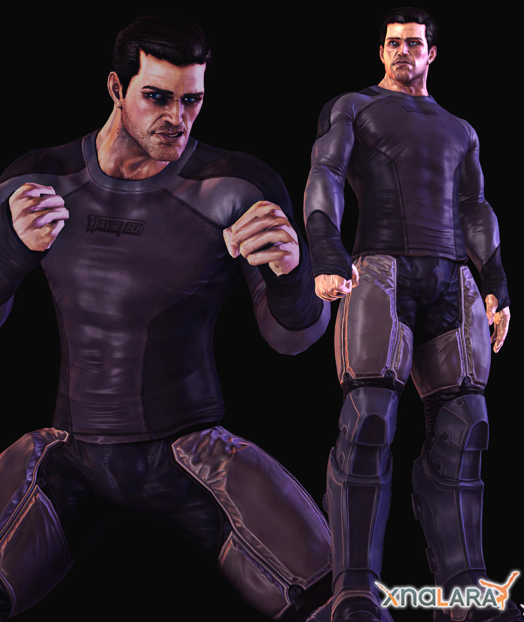 Bao bruce wayne waynetech bodysuit by sticklove on deviantart
