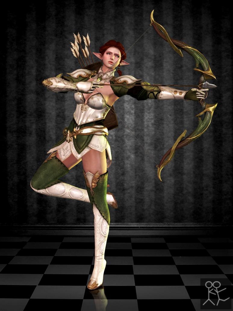 Bless Online - Tinuviel (custom female Elf) by Sticklove
