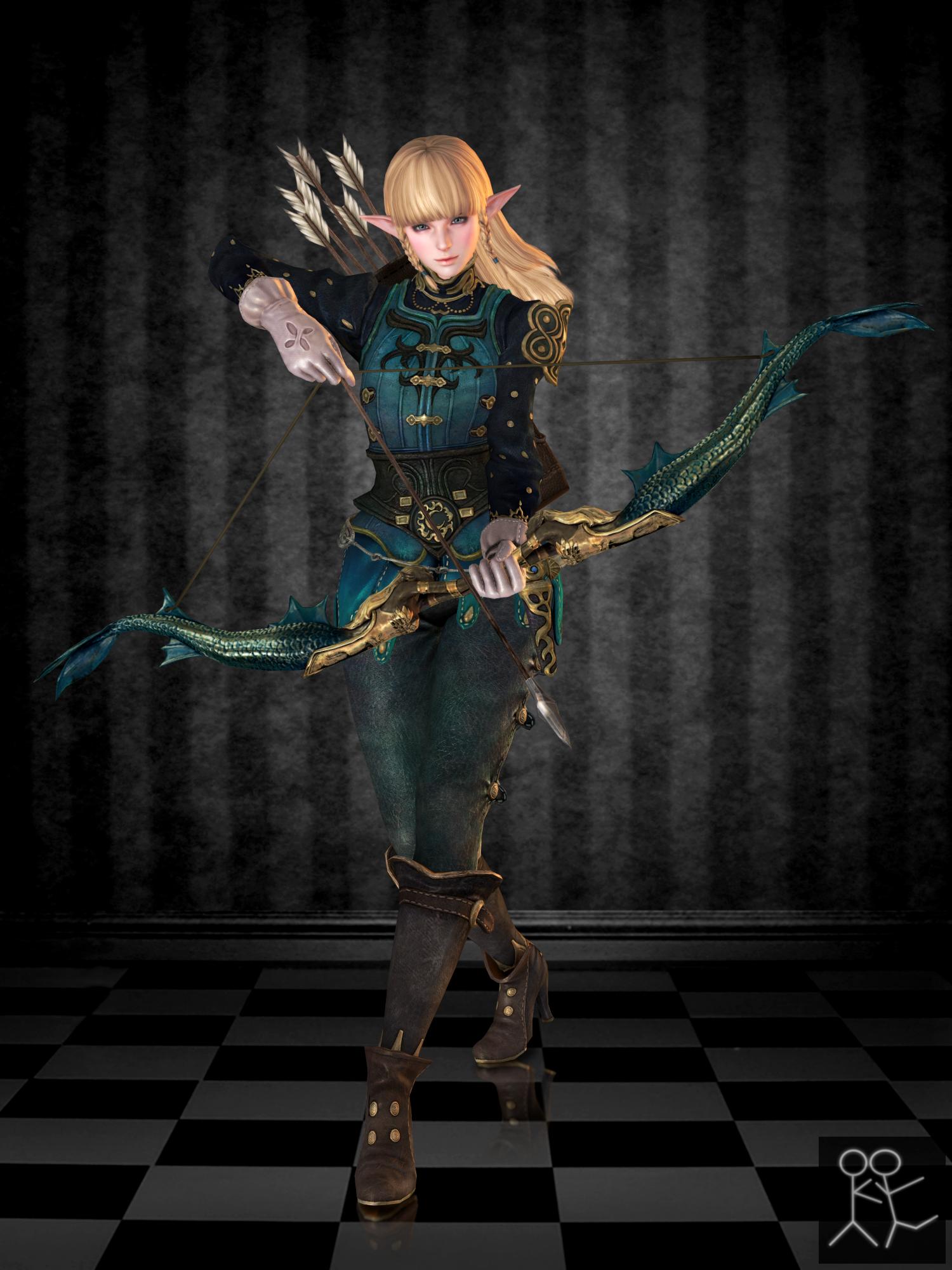 Bless Online - Lorien (custom female Elf) by Sticklove