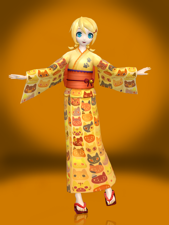 Kagamine rin yukata style by sticklove on deviantart - Kagamine rin project diva ...