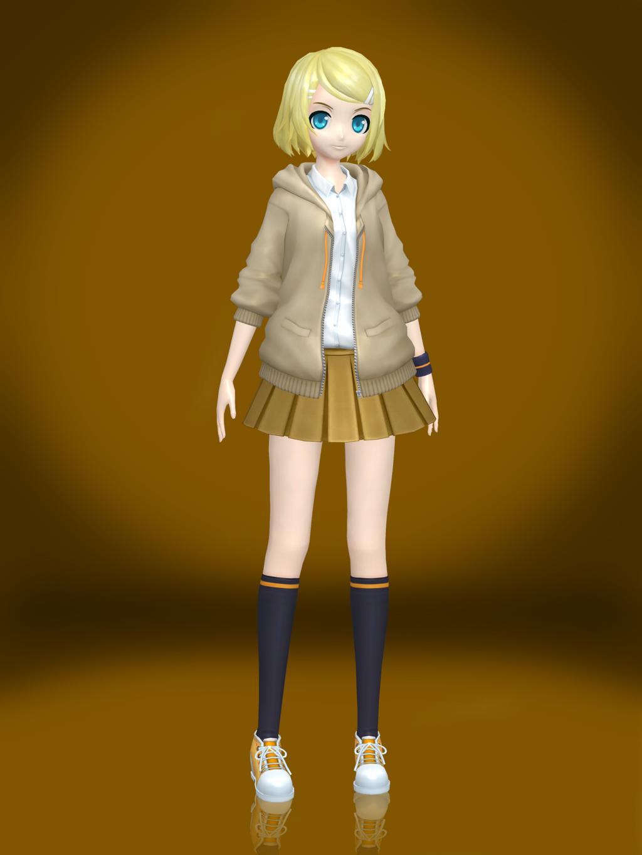 Vocaloid module faker project diva minecraft skin - Kagamine rin project diva ...