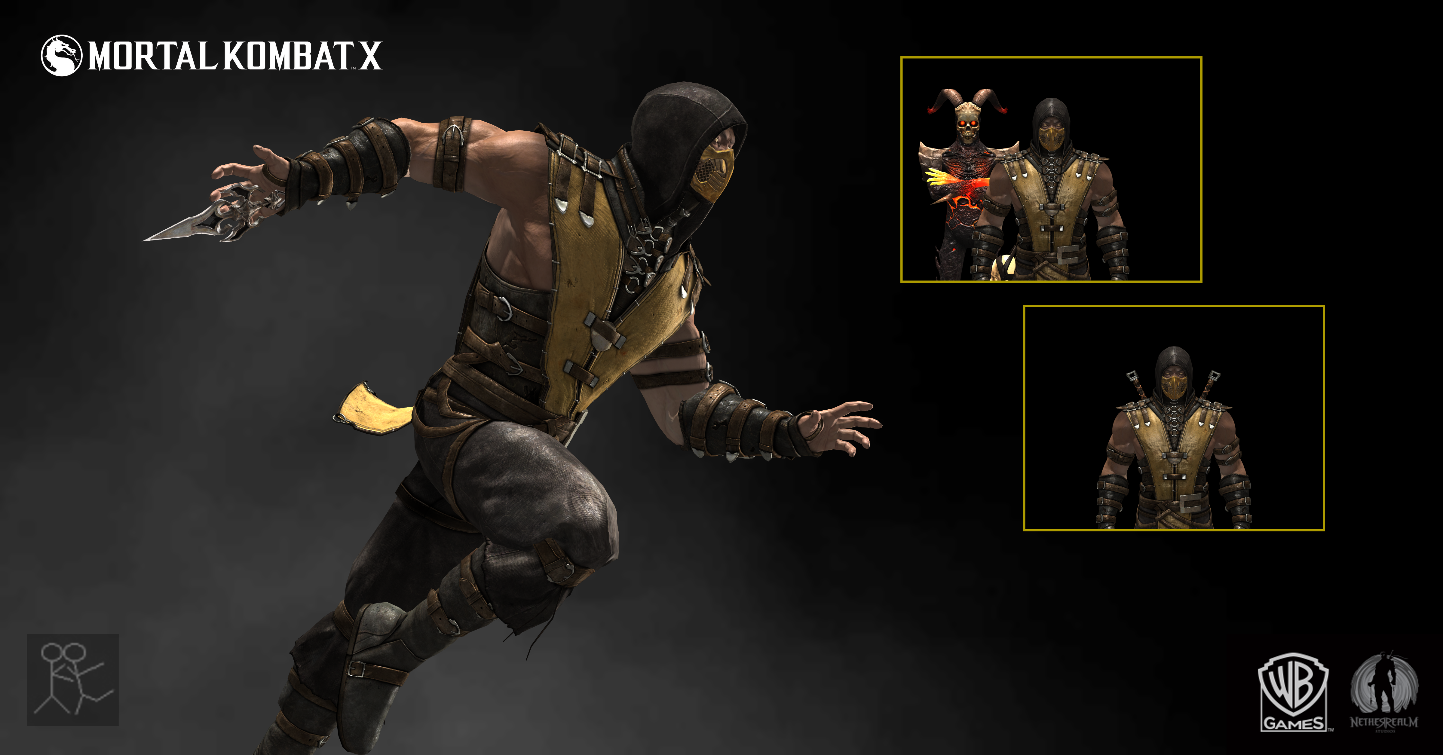 mortal kombat x scorpion costume a by sticklove on