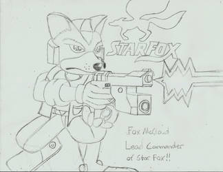 Star Fox Leader Fox McCloud by PhantomMasterRamos89
