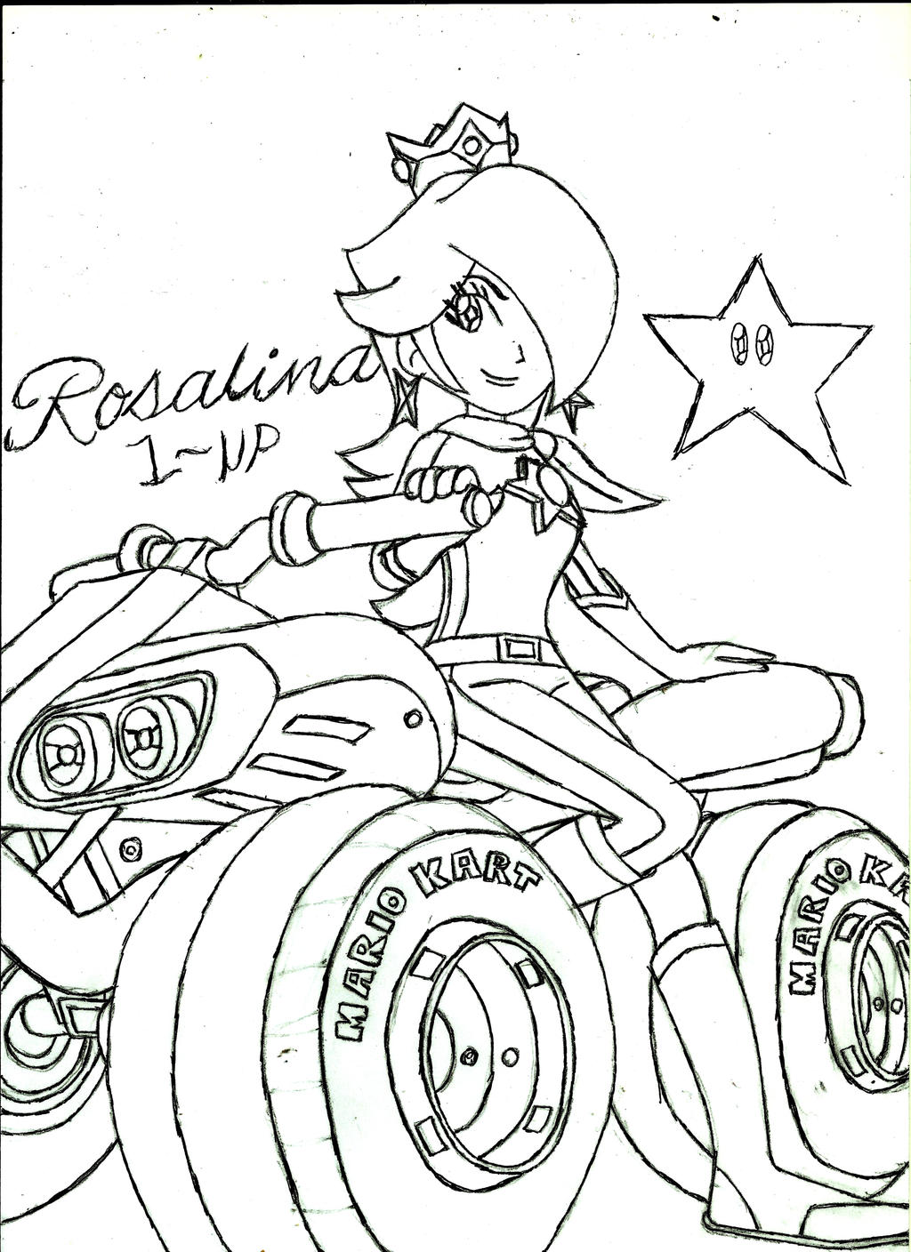 rosalina mario kart 8 by on deviantart - Rosalina Peach Coloring Pages
