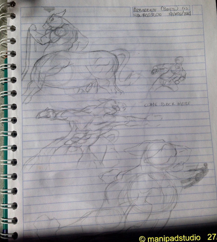 Arborante and Muy sketch by Dralam