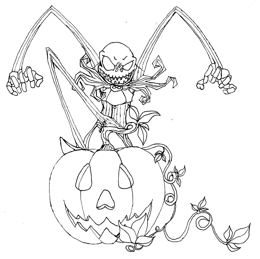 jack skellington nightmare before christmas coloring pages photo 11