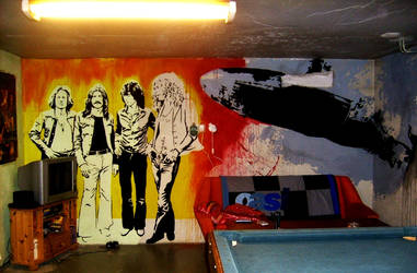 Led Zep Wallpainting Finished by Burkpuk