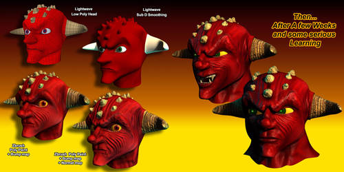 Day One with Zbrush  - DemonHEAD