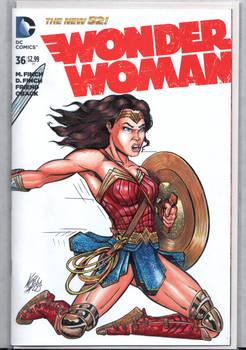 Wonder Woman Sketch Art Cover