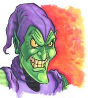 Original Green Goblin drawing by comicsINC