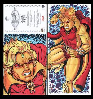 AdamWarlock Marvel premiere 3 panel from Upperdeck