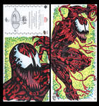 Carnage Marvel premiere 3 panel from Upperdeck