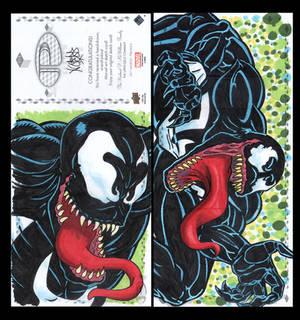 Venom Marvel premiere 3 panel from Upperdeck