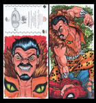 Kraven Marvel premiere 3 panel from Upperdeck