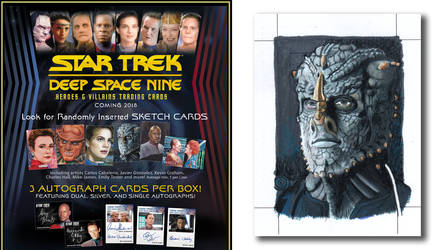 Deep Space Nine Heroes and Villians Sketch Card by comicsINC