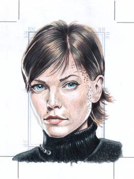 Ezri Dax Original art Sketchcard