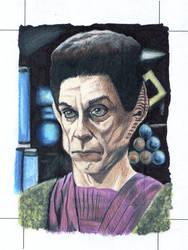Yelgrun Star Trek Deep Space Nine Sketch card