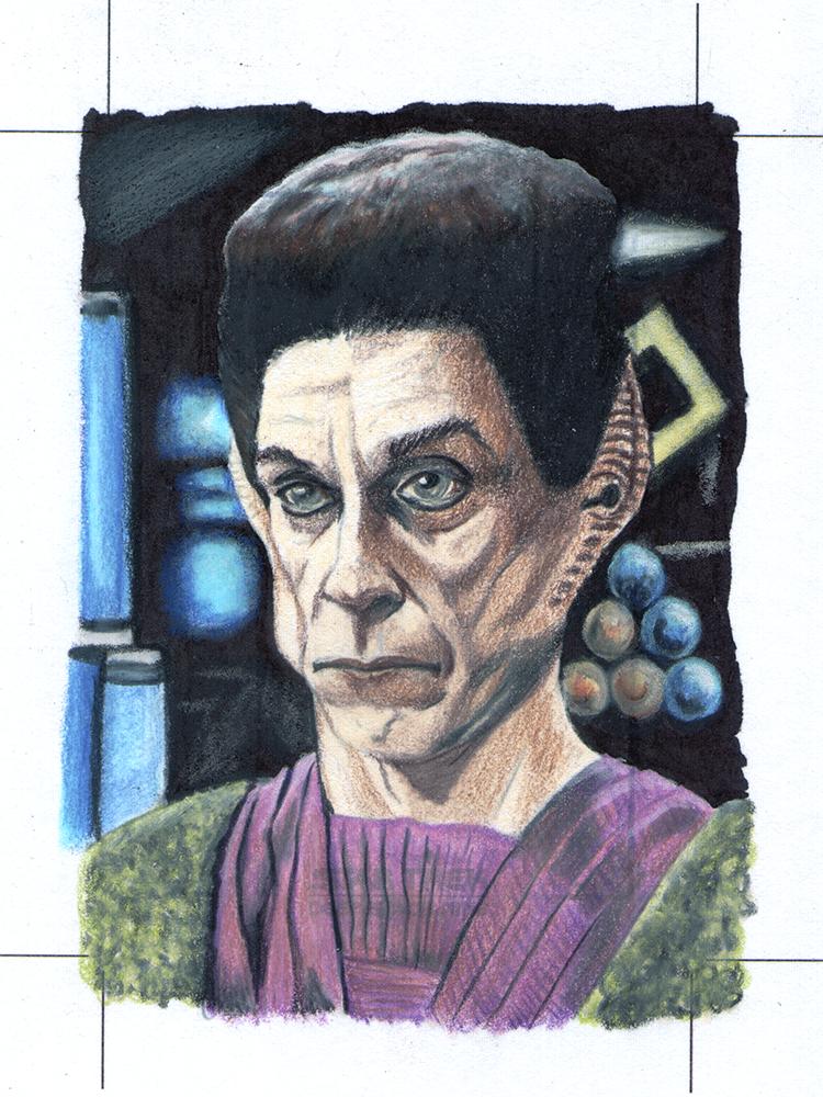 Yelgrun Star Trek Deep Space Nine Sketch card by comicsINC