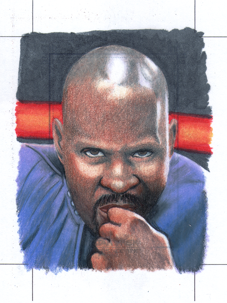 Sisko officially licensed sketch card by comicsINC