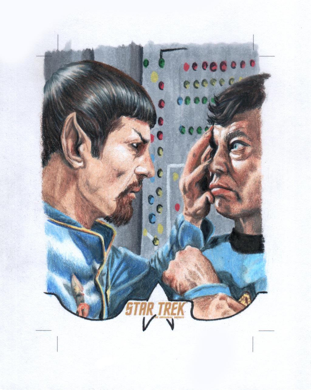 Star Trek Spock Bones Sketchcard by comicsINC