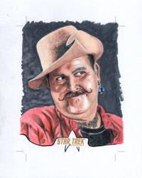 Star Trek Sketch card Harry Mudd by comicsINC