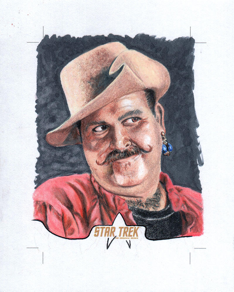 Star Trek Sketch card Harry Mudd by comicsINC