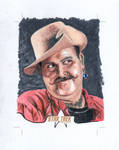 Star Trek Sketch card Harry Mudd