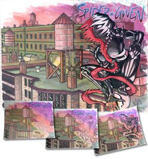 SpiderGwen Sketch cover Gwenom