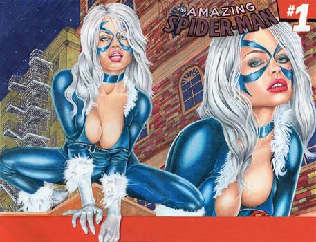 Spider-man #1: Blackcat Original art Sketch cover